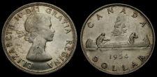 1954 Canada Silver Dollar Queen Elizabeth II SWL AU-50