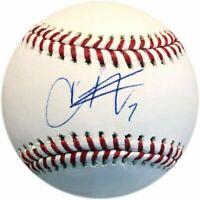 Christian Vazquez Autographed Baseball
