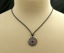 Celtic Knot Necklace Pewter Pendant With Cord Purple Bead Roth The Wheel Charm