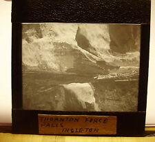 c1900s THORNTON FORCE FALLS INGLETON Yorkshire - Glass Lantern Photo Slide