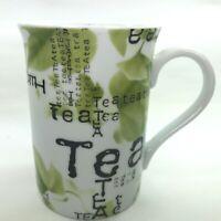 "Konitz Coffee Mug Tea Green Leaves Beautiful Design 4""T 10 Oz Germany Cup C37"