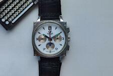 Rare Russian Steel WATCH CHRONOGRAPH POLJOT 31681 MOONPHASE WORKING GOOD