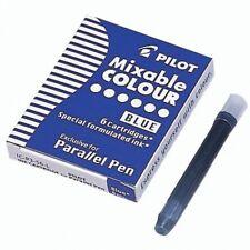 Cartucho de tinta de pluma paralelo piloto-Azul (Paquete de 6)