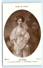 *Musee Du Louvre J.B. Greuze The Broken Pitcher La Cruche Cassee Postcard B59