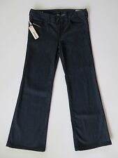 Womens Diesel YBO Low Rise Wide Leg Boot Cut Dark Blue Denim Jeans 30 X 32