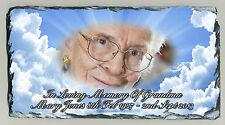 Memorial Personalised Photo Plaque Natural Rock Slate Family Member Tribute