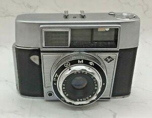 AGFA Vintage Optima 1 35mm Camera -Colar Agnar Lens 1.2.8/45 Circa 1960's W/Case