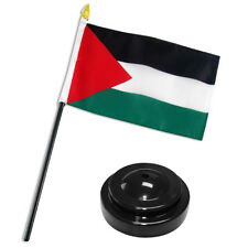 "Palestine Flag 4""x6"" Desk Set Table Stick Black Base"