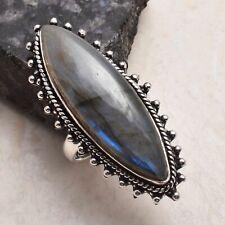 Labradorit ethnische handgemachte Ring Schmuck uns Größe - 7.5 AR 51857