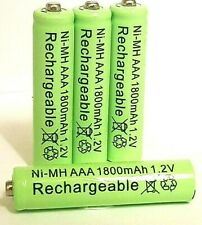 4 Pack Industrial AAA Rechargeable Battery High Performance Ni-MH 1800mAh 1.2v