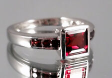 Granat Ring, 925er Silber, Gr.17, Juwelo, mit Zertifikat
