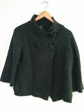 Atmosphere Dark Green Thick Cardigan Button Acrylic Wool Mix 3/4 Sleeve Size 16