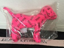 "Victoria's Secret Pink 2014 Pink Black Logo Collectible ""Giant"" Mini Dog - *NIP"