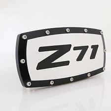 Chevrolet Z71 Black Trim Chrome Billet w/ Allen Bolts Tow Hitch Cover