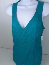Old Navy Tank Top Blouse Women Medium Teal Green Thin Sleeveless Shirt New $23