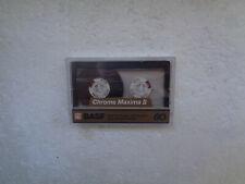 Vintage Audio Cassette BASF Chrome Maxima 60 From 1989 - Fantastic Condition !!