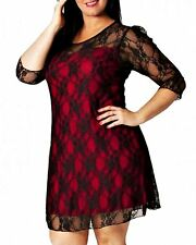 Polyester Plus Size Floral Scoop Neck Dresses for Women