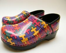 GIRLS KIDS YOUTH SANITA PUZZLE PIECES PROFESSIONAL CLOGS MULES BOOTS SZ 32 USA 2