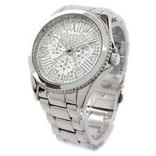 Silver SL Bling Dial Fancy Women's Boyfriend Style Watch