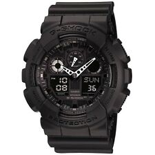 Casio GA-100-1A1ER Mens G-Shock Auto LED Light All Black Watch RRP £110