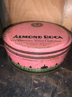 Vintage Almond Roca  Confections Tin Tacoma Washington.Brown & Haley