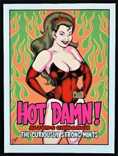 Altoids POSTER Hot Damn! Official Limited Numbered Edition Signed by Coop Mint!