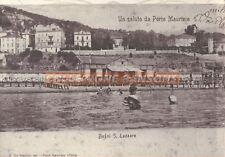 FOTO DI CARTOLINA BAGNI SAN LAZZARO DI IMPERIA PORTO MAURIZIO C9-28