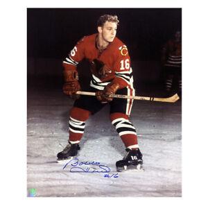 BOBBY HULL Signed Chicago Blackhawks 16 X 20 Photo - 79099