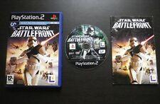 STAR WARS BATTLEFRONT : JEU Sony PLAYSTATION 2 PS2 (complet, envoi suivi)