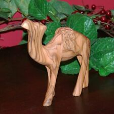 From The Earth - Olive Wood Standing Camel - Fair Trade & Handmade