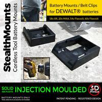 20x Black DeWALT XR BATTERY MOUNTS for 18v 54v 20v 60v batteries storage holder