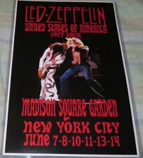 Led Zeppelin 1977 Madison Square Garden Replica Concert Poster W/Top Loader