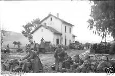German Army Troops 1943 Tunisia BMW Motorbike World War 2 Reprint Photo 6x4 Inch