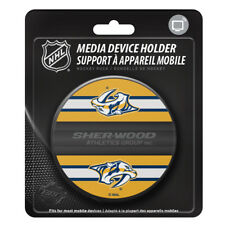 Nashville Predators Hockey Puck Media Device Holder Home/Office Phone Tablet