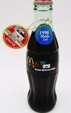 *1996 2nd ed. Maile Lei Ronald McDonald's House Hawaii Coca Cola Bottle w Tag