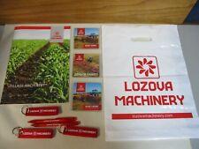 Lozova Machinery Tillage Brochure Magnets Keychains 2 Pens Collectables Ukraine