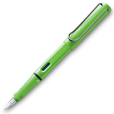 Lamy Safari Fountain Pen - Apple Green - Medium Point - L13GNM - New in Lamy Box