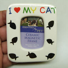 """$5 Blow Out Sale: CERAMIC MAGNET """"I LOVE MY CAT"""" 1.5 x 2 in (BRAND NEW)"""