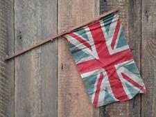 Antique Vintage Union Jack Flag Wooden Stick Village Fete Garden Celebration L