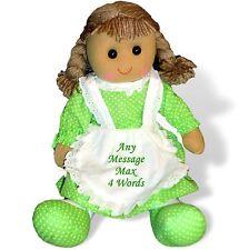 Personalised Rag Doll Birthday Flower Girl Bridesmaid Christening Easter Gift