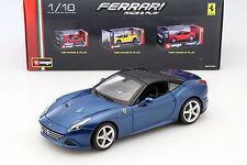 Ferrari California T closed Top bleu 1:18 Bburago