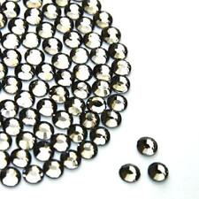 Diamond Black Hot Fix Rhinestone hot fix/iron on/glue on 4A 2,3,4,5,6mm