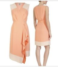 Laura Ashley Occassion Summer Dress Size 14 pink peach
