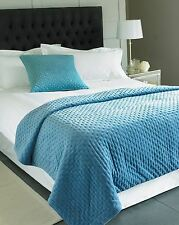 azul vaquero BORDADA 100% Algodón Terciopelo Manta 140x200cm