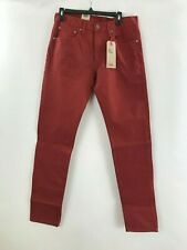 Men's Levi's 512 slim taper stretch fit maroon red denim jeans size 30 X 30 New
