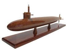 USS Permit SSN-594 Thresher Class Navy Submarine Mahogany Wood Wooden Sub Model