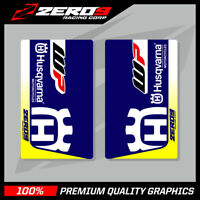 HUSQVARNA SE1 UPPER FORK DECALS BLUE/WHITE MOTOCROSS GRAPHICS MX GRAPHICS