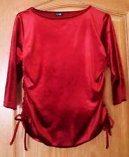 haut chemisier t-shirt femme rouge AUTRE TON - taille 36