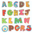 Letters Alphabet Colourful Iron on Sew On Patch Motif Applique DIY Personalise