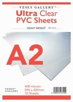 A2 Clear PVC / Heavy Acetate 10 Sheets 400 Micron 420x594mm - FREE DELIVERY